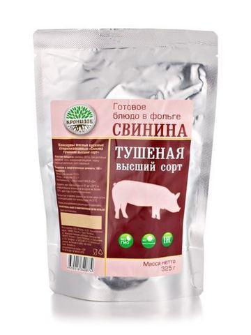 Свинина тушёная 'Кронидов', высший сорт, 325г