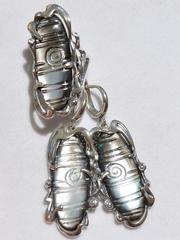 Навахо (кольцо + серьги из серебра)