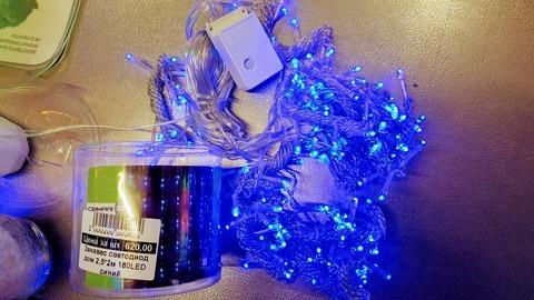Сетка светодиодная домашняя 2,5х2м синий