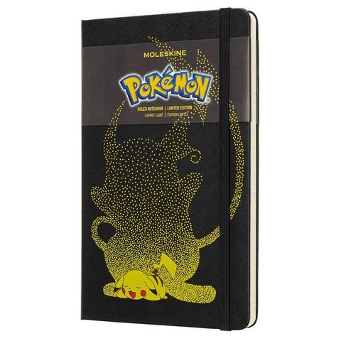 Блокнот Moleskine Limited Edition POKENON LEPOQP060PK Large 130х210мм 240стр. линейка Pikachu