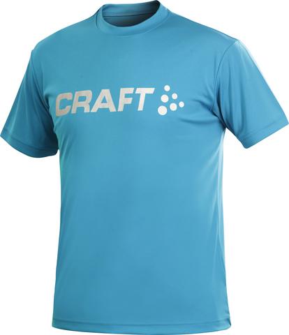 Футболка Craft Active Run Logo мужская голубая