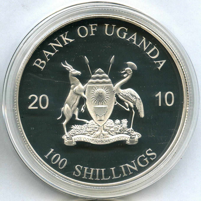 Набор из 12 монет 100 шиллингов 2010 год Уганда