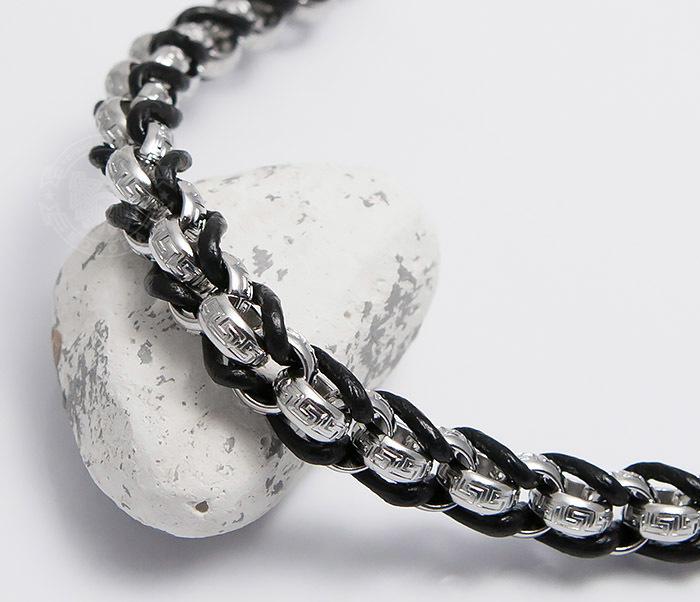 BM491 Мужской браслет цепь с необычными звеньями (22 см) фото 03