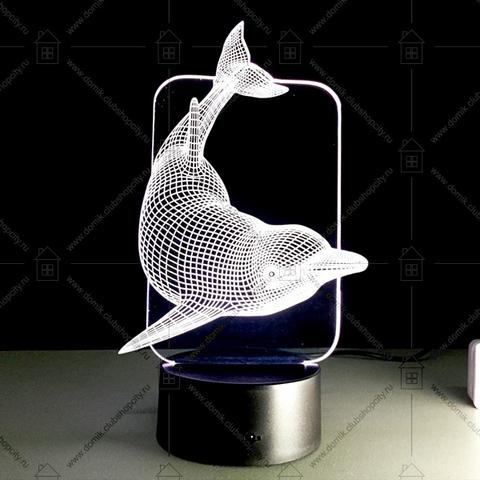 Светильники 3D Дельфин