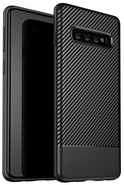 Чехол под карбон на Samsung Galaxy S10 ультра тонкий, серии Fit от Caseport