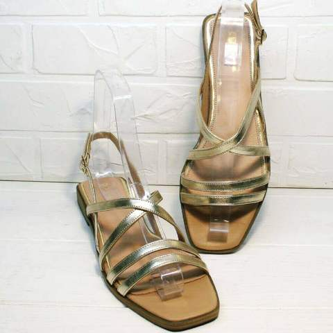 Шлепанцы сандалии женские Wollen M.20237D ZS Gold.