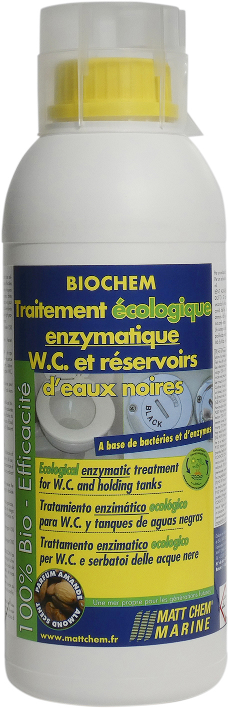 Ecological enzymatic treatment for W.C. and holding tanks Biochem