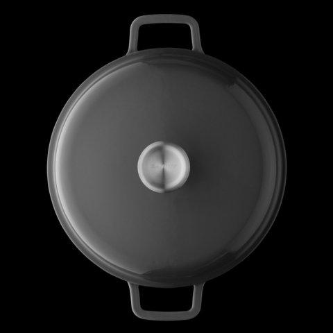 Кастрюля чугунная с крышкой 24см 4,4л Gem