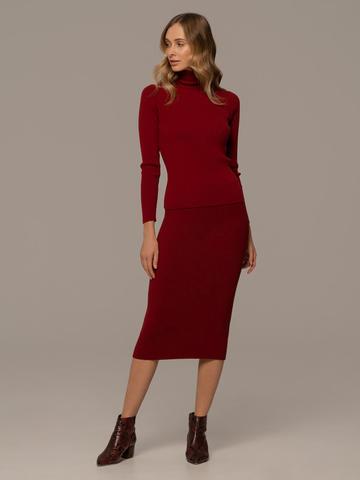 Женский свитер красного цвета из 100% шерсти - фото 3
