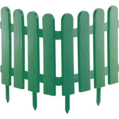Забор декоративный Классика 29х224см зеленый Palisad