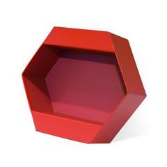 Коробка для цветов «Шестиугольник», Красный 250x220x90