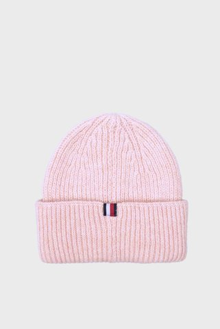 Женская пудровая шапка EFFORTLESS BEANIE Tommy Hilfiger