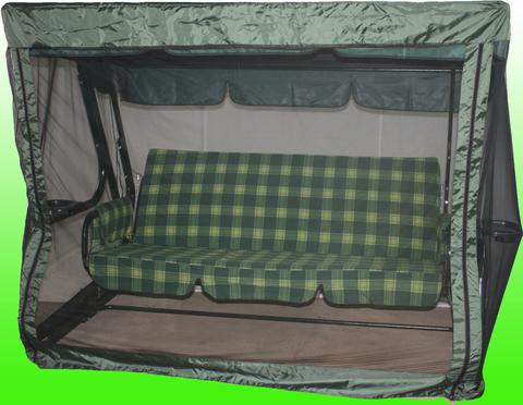 Москитная сетка 230 на молнии (230*145*185) Зеленый/Бордо