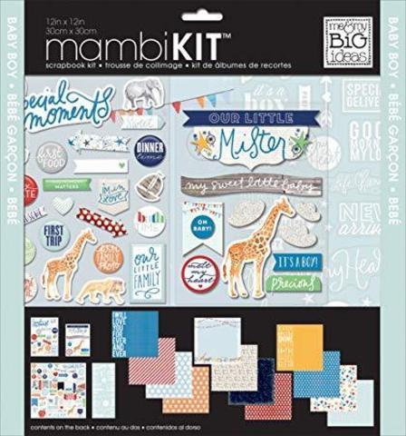 Набор бумаги с украшениями Me & My Big Ideas Page Kit- 30х30см -Cool Baby Boy