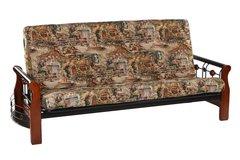 """Кровать """"Футон PS 900 Futon"""" 90*220 см (без матраца - решетка металлическая) —  Rose Oak (Темная вишня)  (MK-1936-RO)"""