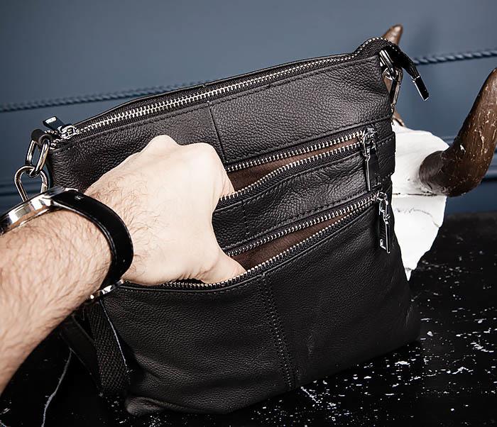 BAG538-1 Мужская сумка планшет с ремнем через плечо фото 07