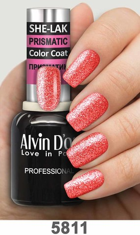 Alvin D`or Лак для ногтей SHE-LAK PRISMATIC  тон 5811 -8мл