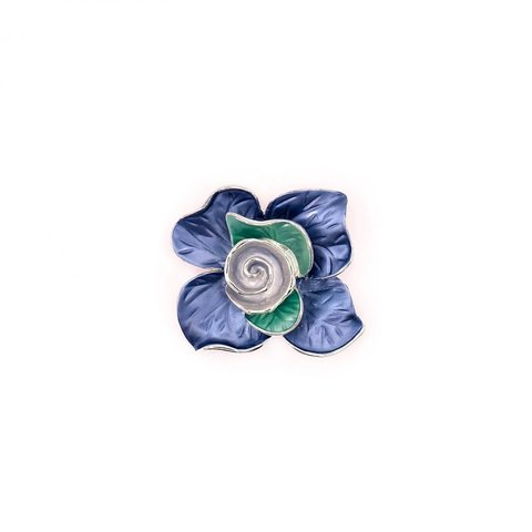 Брошь Цветок XZ0598.22 BL/S