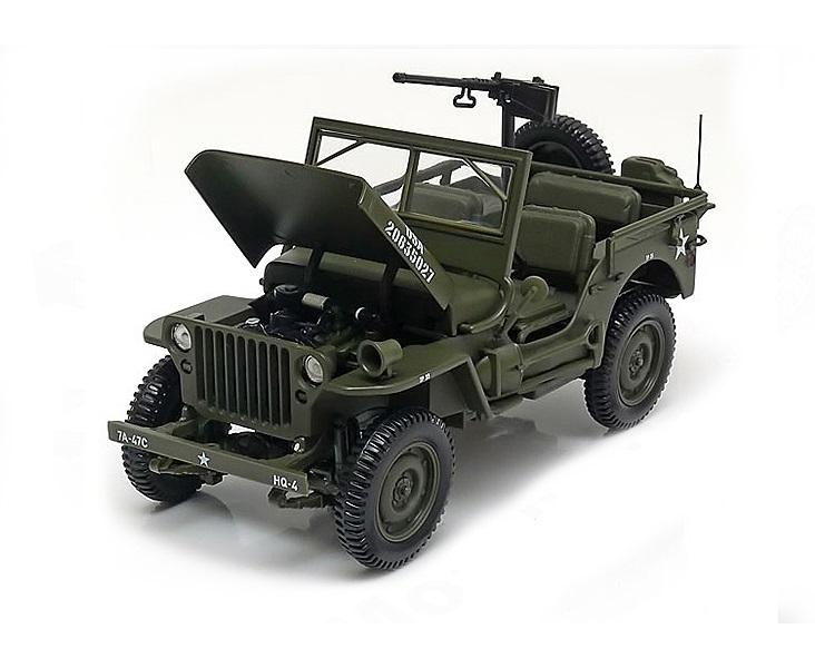 Коллекционная модель Jeep Willys US Army 1942 Green