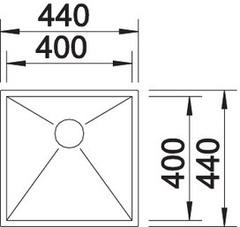 Мойка Blanco Zerox 400-U схема