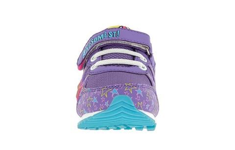 Светящиеся кроссовки Мой Маленький Пони (My Little Pony) на липучках для девочек, цвет сиреневый. Изображение 2 из 5.