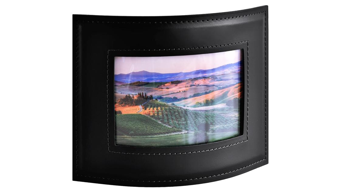 Фоторамка горизонтальная для фото 10х15 см серии Бизнес кожа Cuoietto цвет черный.