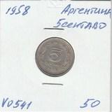 V0541 1958 Аргентина 5 сентаво