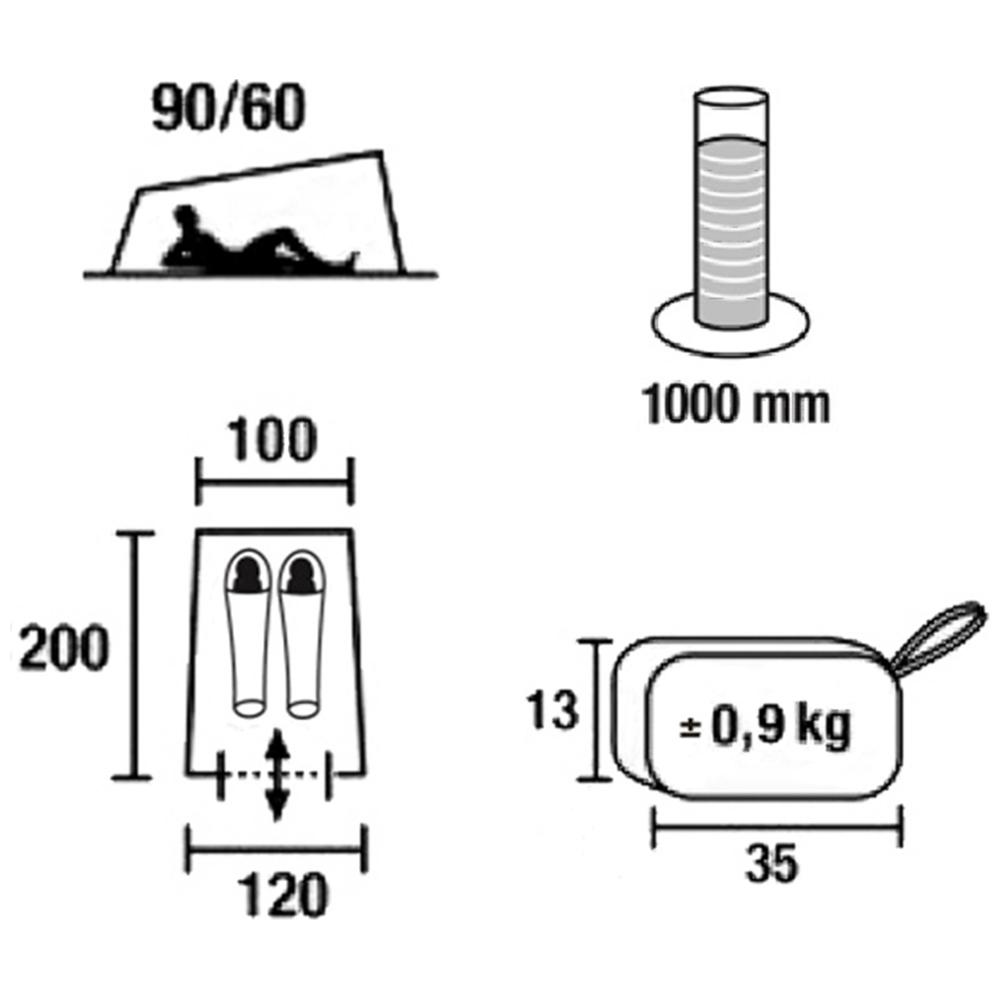 Палатка Green Glade Minicasa, 200х100/120х60/90 см