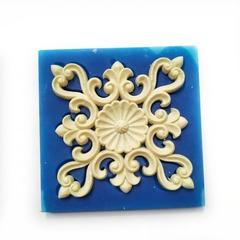 0619 Молд силиконовый. Орнамент квадратный.