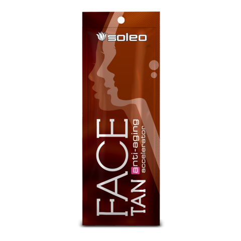 SOLEO Крем-бронзирующий ускоритель для загара лица с формулой против старения FaceTan 15 мл