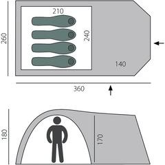Палатка кемпинговая Btrace Element 4 (2021) - 2