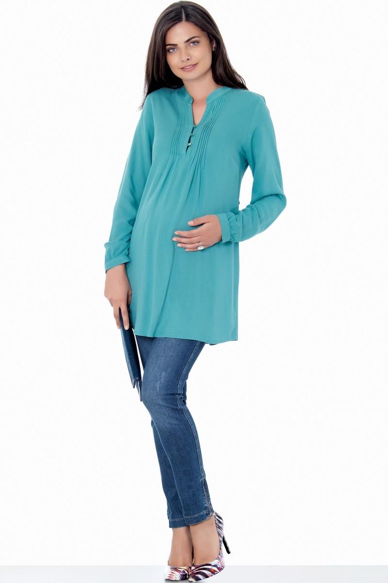 Блузка для беременных 01384 зеленый