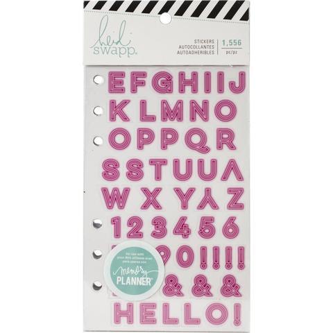 Стикербук - Heidi Swapp Memory Planner Cardstock Stickers - Color Fresh, Alphabet- 1556 шт