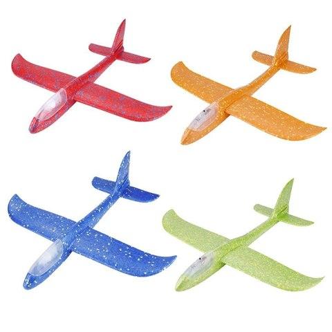 Детский самолётик летающий 48 сантиметров (пенопласт) фиолетовый