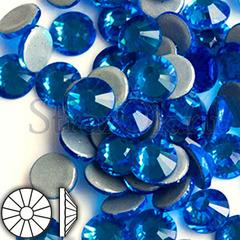 Стразы горячей фиксации клеевые стеклянные термостразы Capri Blue Капри Блю голубой на StrazOK.ru