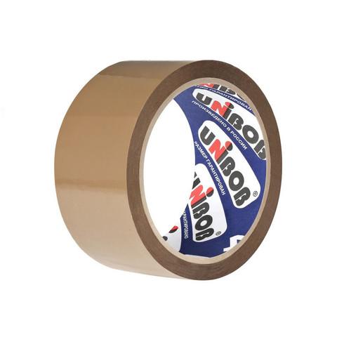 Скотч клейкая лента упаковочная Unibob коричневая 48 мм х 66 м толщина 40 мкм