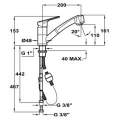 Смеситель TEKA MTP 978 Кварц - схема