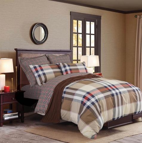 Сатиновое постельное бельё  1,5 спальное Сайлид  В-173
