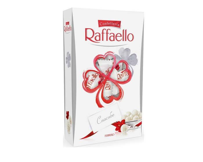 конфеты raffaello с цельным миндальным орехом в кокосовой обсыпке 70г