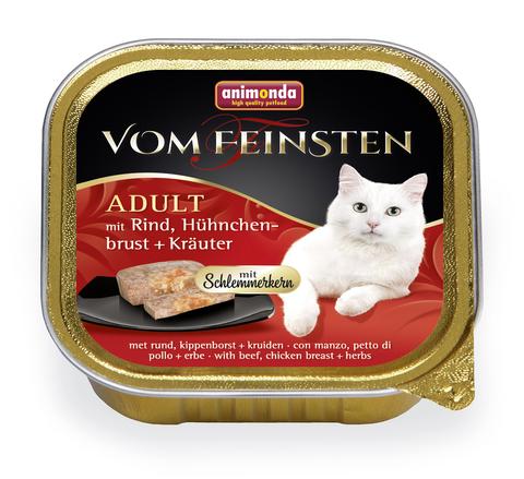 Консервы Animonda Vom Feinsten Adult Меню для гурманов с говядиной, куриной грудкой и травами для взрослых привередливых кошек