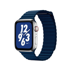 Ремешок кожаный COTEetCI W7 Leather Magnet Band (WH5205-DB) для Apple Watch 40мм/ 38мм Синий