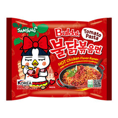 Южнокорейская лапша Samyang со вкусом острой курицы и соусом из томатной пасты 140 гр