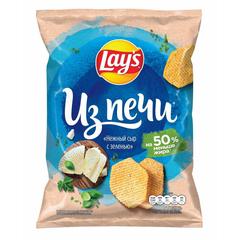 Чипсы Lays из печи нежный сыр с зеленью, 85г