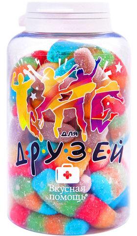 Вкусная помощь мармелад разноцветные бутылочки Для друзей 250 мл