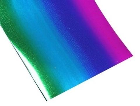 Фольга для дизайна ногтей радужная синяя