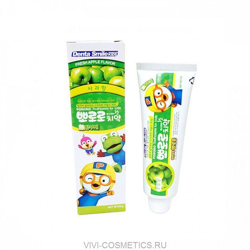 Детская зубная паста (зеленое яблоко) | DENTA SMILE kids Pororo (90g)