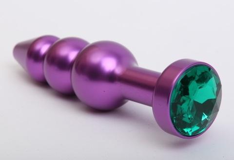 Пробка металл фигурная елочка фиолетовая с зеленым стразом 11,2х2,9см 47433-6MM