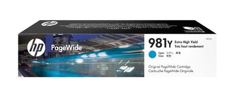 Оригинальный картридж струйный HP L0R13A (№981Y) голубой