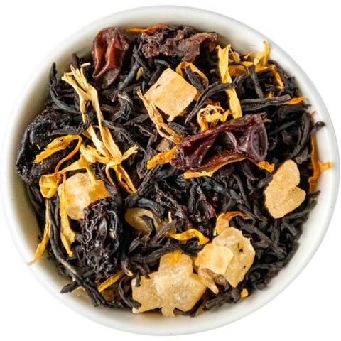 Черный чай с персиком