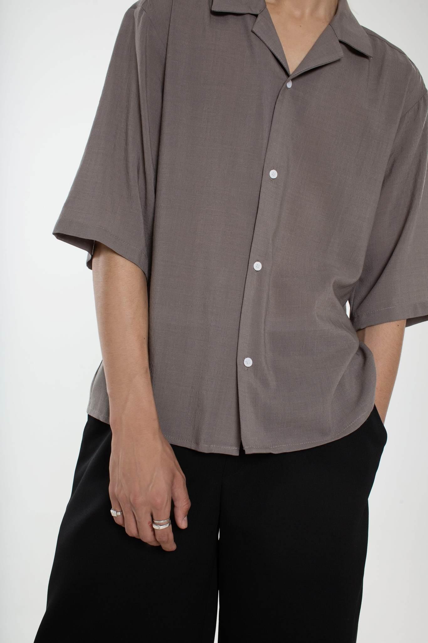 Рубашка из шерсти серая
